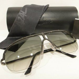 NEW Authentic Cazal 9047 Black Silver Sunglasses